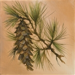 Single Pinecone by artist Marilynn Mason
