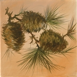 Three Pinecones by artist Marilynn Mason