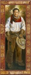 Cowboy with White Shirt by artist Marilynn Mason